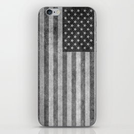 US flag - retro style in grayscale iPhone Skin