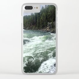 Rushing Rapids Clear iPhone Case