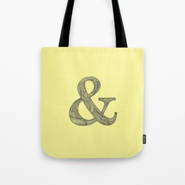Yellow Ampersand Tote Bag