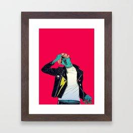 Removing the mask Framed Art Print