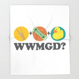Peg + Gum + Duck = What would MacGyver Do? Throw Blanket
