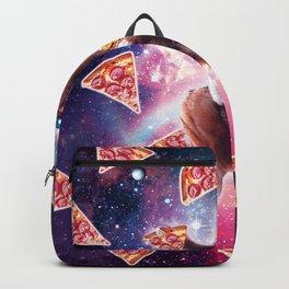 Thug Space Sloth On Wolf Unicorn - Pizza Backpack
