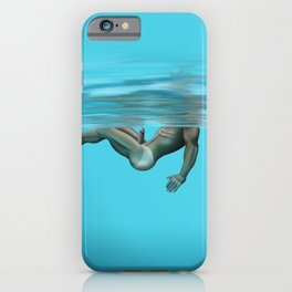 Swimming in the pool iPhone Case
