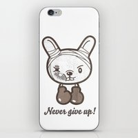 boxing iPhone & iPod Skins featuring Boxing Bunny by pencilplus