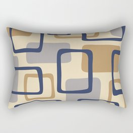 Mid Century Modern Abstract Squares Pattern 429 Rectangular Pillow