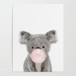 Bubble Gum Baby Koala Poster