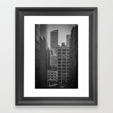 grimy nyc window... Framed Art Print