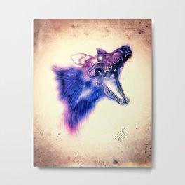 Frankenstein Wolf Metal Print