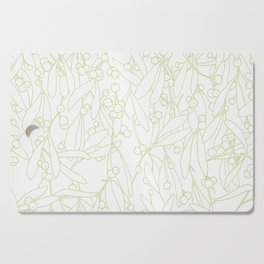 viscum album - green lines Cutting Board