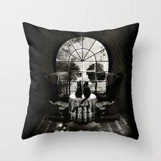 Room Skull B&W Throw Pillow