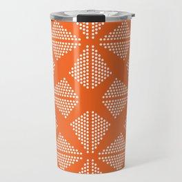 Geometric Dots Pattern - Orange Travel Mug