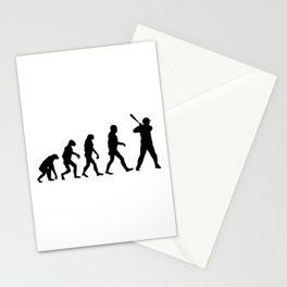 Baseball Evolution Stationery Cards