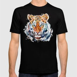 Tiger Head watercolor T-shirt