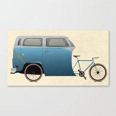 Camper Bike Canvas Print