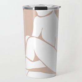tan abstract nude 2 Travel Mug