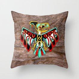 Thunderbird-knot Throw Pillow