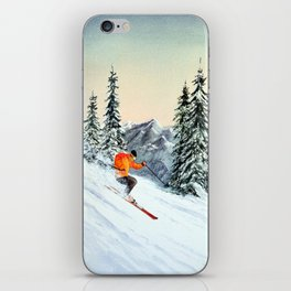 Skiing The Clear Leader iPhone Skin