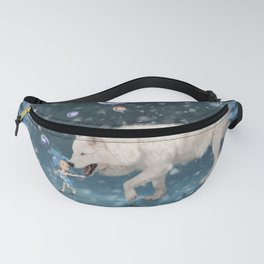 Awesome polarwolf with cute fairy Fanny Pack