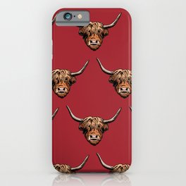 Highland Cow - Red iPhone Case