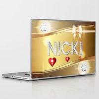 nicki Laptop & iPad Skins featuring Nicki 01 by Daftblue
