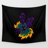 firefly Wall Tapestries featuring Firefly by Steve Purnell