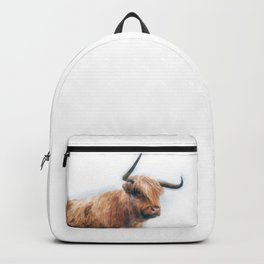 Highland Cow Watercolour Backpack