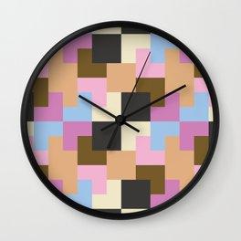 Ice Cream Pixels Wall Clock