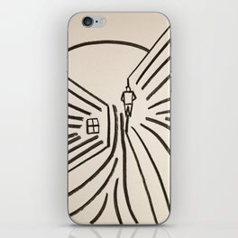 Study of a Man Walking Into the Sun iPhone Skin