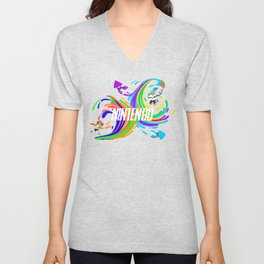 Pixel Splatoon Unisex V-Neck