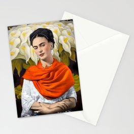 FERIDA KAHLO REBOZO NARANJA Stationery Cards
