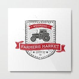 Weekend Farmers Market Metal Print