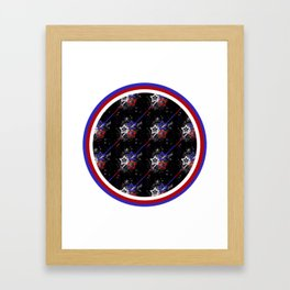 Stars and Stripes Diameter Framed Art Print