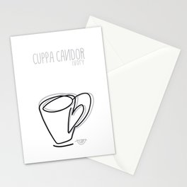 Cuppa Candor [Ivory] Stationery Cards