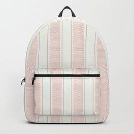 Vintage pastel pink stripes pattern Backpack