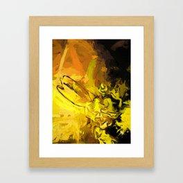 Yellow Lily Golden Light Flower Falling Star Framed Art Print