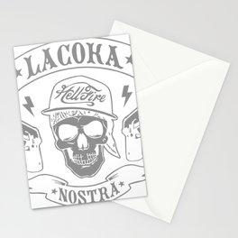 La Coka Nostra Skull Men Stationery Cards