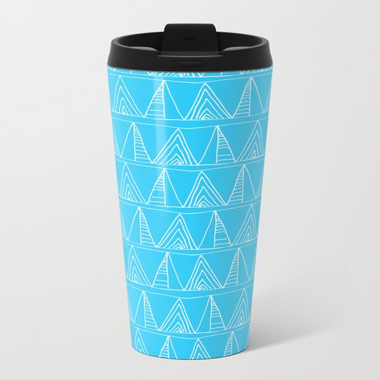 Triangles- Simple Triangle Pattern for hot summer days-Mix & Match Metal Travel Mug