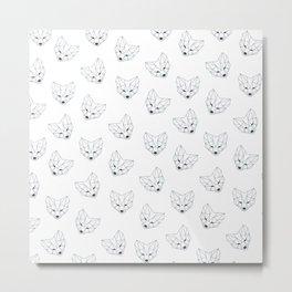 Fox geometry Metal Print