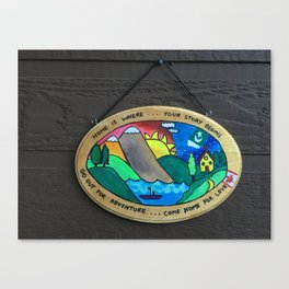 Welcome home plaque Canvas Print