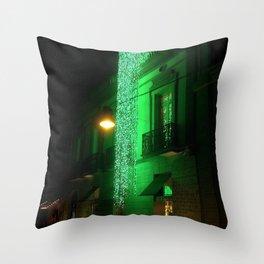 Green Cascade Throw Pillow