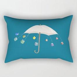 The Umbrella Books Rectangular Pillow