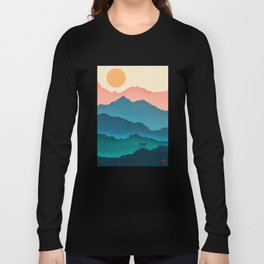 Meditating Samurai Long Sleeve T-shirt