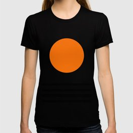 Orange Zen Sunset Minimalist Art Black Stripes Simple Art T-shirt