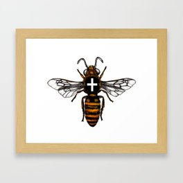 Cornish Bee Framed Art Print