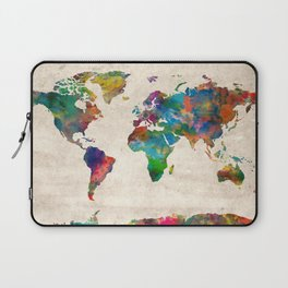 world map Laptop Sleeve