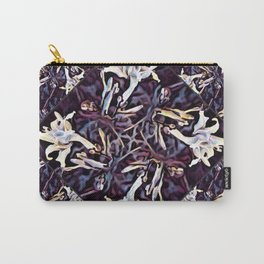 White Lilies in the Purple Garden Carry-All Pouch