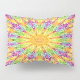 Rainbow Mandala Pillow Sham