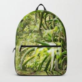 green foliage Backpack