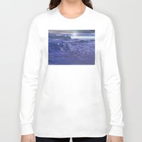 geology Long Sleeve T-shirts featuring Frozen Sea of Neptune by Phil Perkins