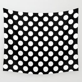 Black and white polka dots pattern Wall Tapestry